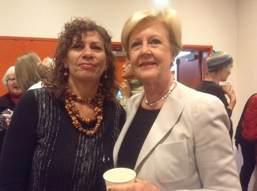 Ali Cobby Eckerman with Gillian Triggs launch of the Intervention anthology